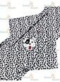 Sunny Funny Benekli Köpek Nakışlı Bebek Poları Siyah